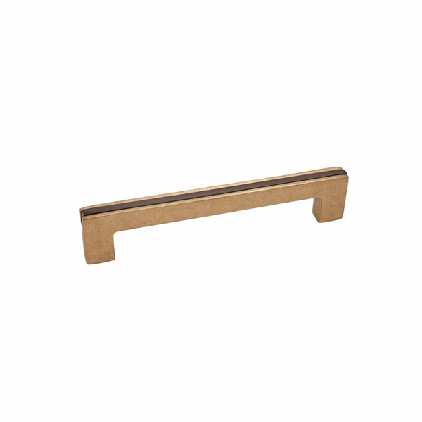 Angle Two-Tone Style, Bronze Contemporary Banded Handle