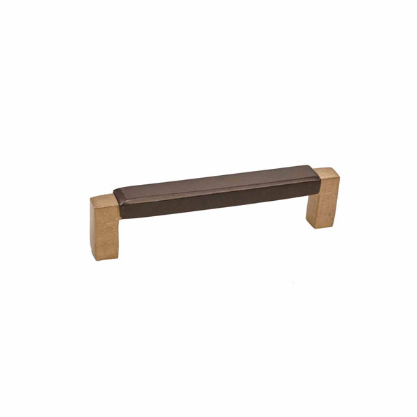 Angle Two-Tone Style, Bronze Contemporary Bevel Top Handle