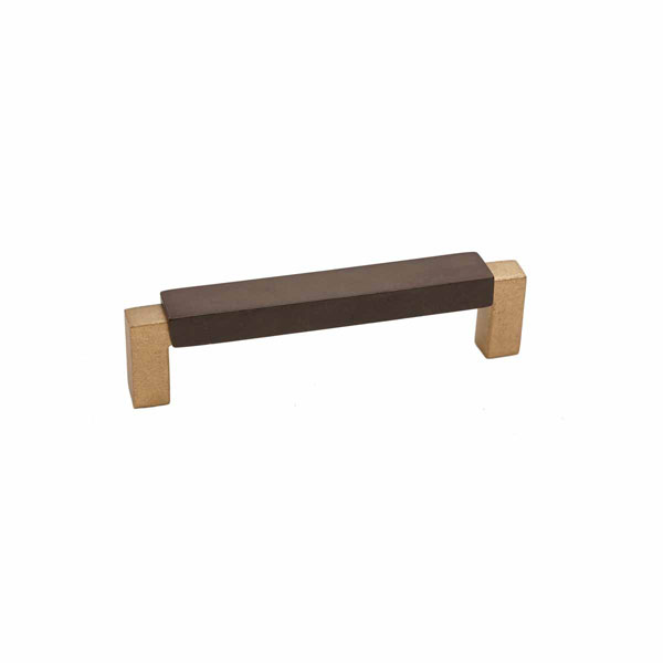 Angle Two-Tone Style, Bronze Contemporary Flat Top Handle