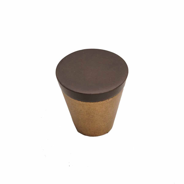 Curve Two-Tone Style, Bronze Contemporary Cone Knob