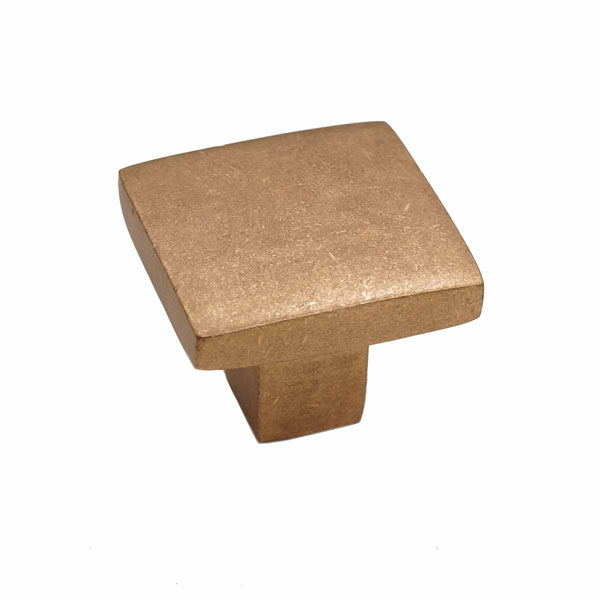 Mission Style, Bronze Flat Square Knob
