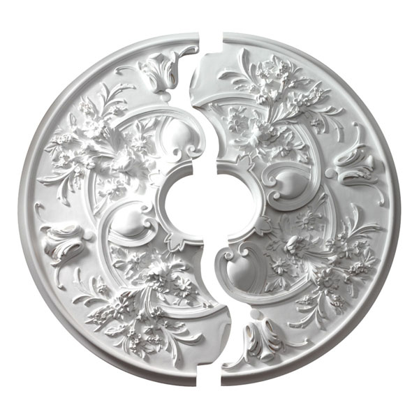 "31 7/8""OD x 5 3/4""ID x 2 3/16""P Rochelle Ceiling Medallion (Two-Piece)"