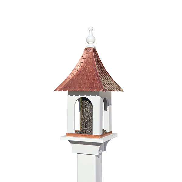 "11""L x 11""W x 26""H Large Seed Capacity Bird Feeder"