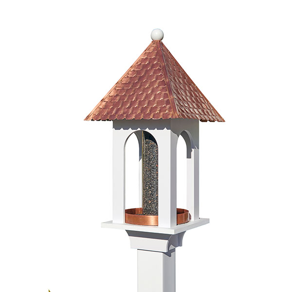 "14""L x 14""W x 30""H Extra-Large Seed Capacity Bird Feeder"
