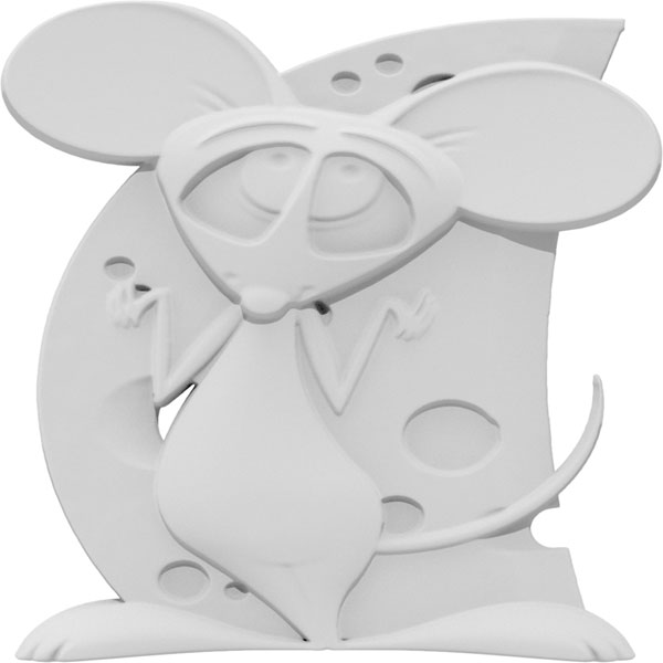 Comic Mouse Left Onlay
