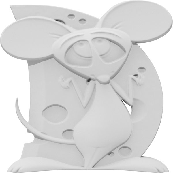 Petite Comic Mouse Right Onlay
