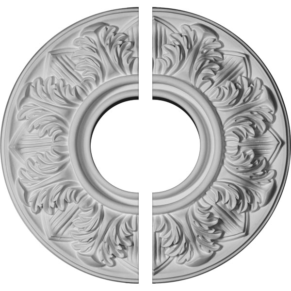 "13""OD x 1 3/8""P Whitman Ceiling Medallion, Two Piece (For Canopies up to 5 1/2"")"
