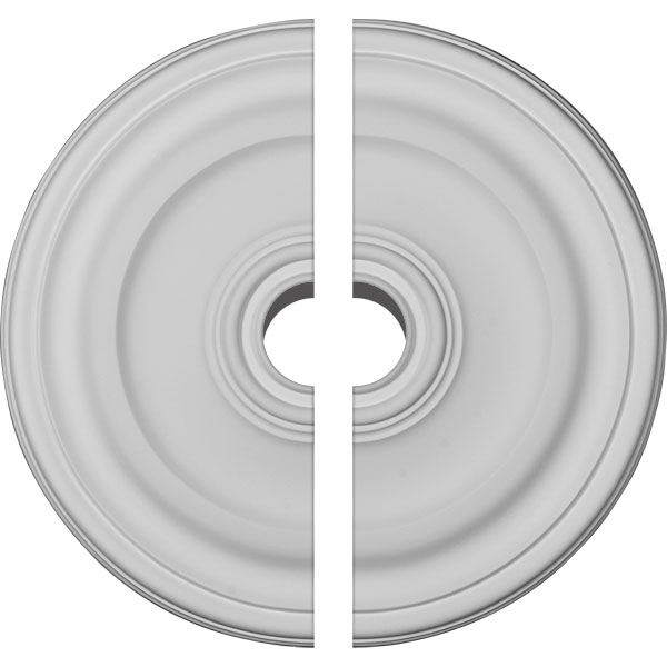 "15 7/8""OD x 1 1/2""P Kepler Traditional Ceiling Medallion, Two Piece (For Canopies up to 2 1/2"")"