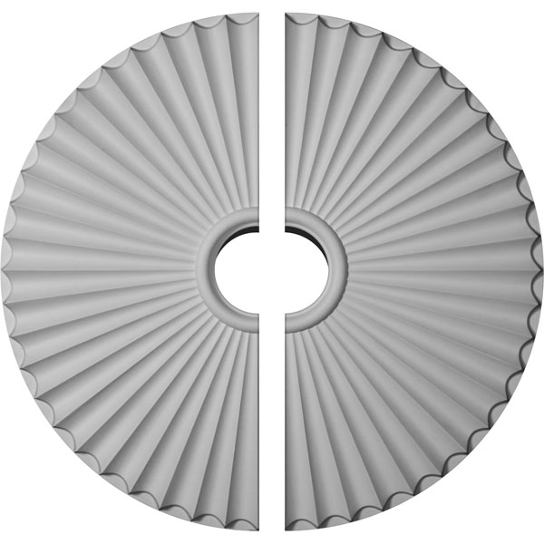 "29 1/2""OD x 2""P Shakuras Ceiling Medallion, Two Piece (For Canopies up to 6"")"