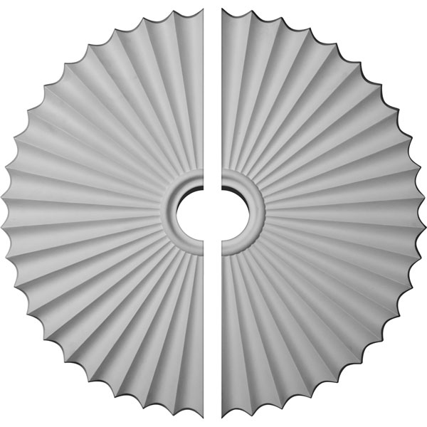 "33 7/8""OD x 2""P Shakuras Ceiling Medallion, Two Piece (For Canopies up to 6"")"