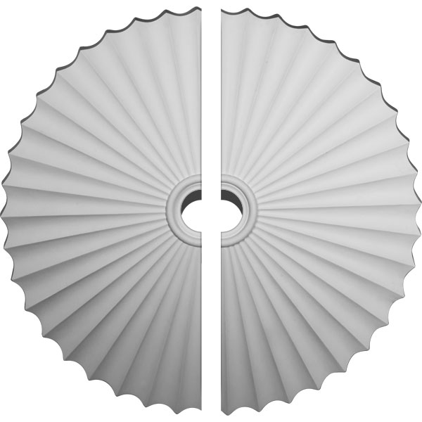 "47 5/8""OD x 2""P Shakuras Ceiling Medallion, Two Piece (For Canopies up to 6"")"