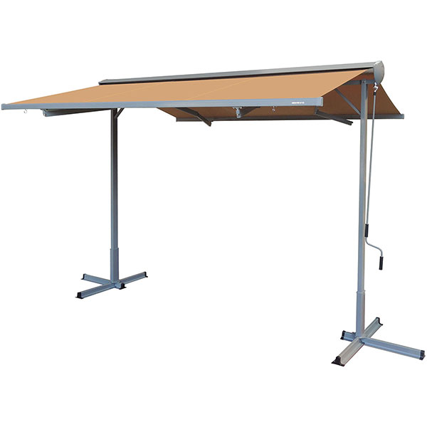FS-Series Free Standing Semi-Cassette Manual Retractable Patio Awning
