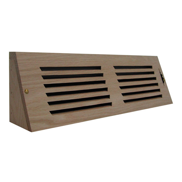 Horizontal Slot Baseboard Register w/ Recessed Air Flow Control