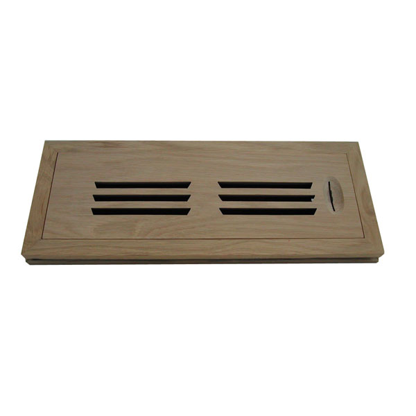 Horizontal Slot Flush Mount Grooved Frame Register w/ Recessed Air Flow Control
