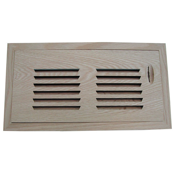 Horizontal Slot Flush Mount Register w/ Recessed Air Flow Control