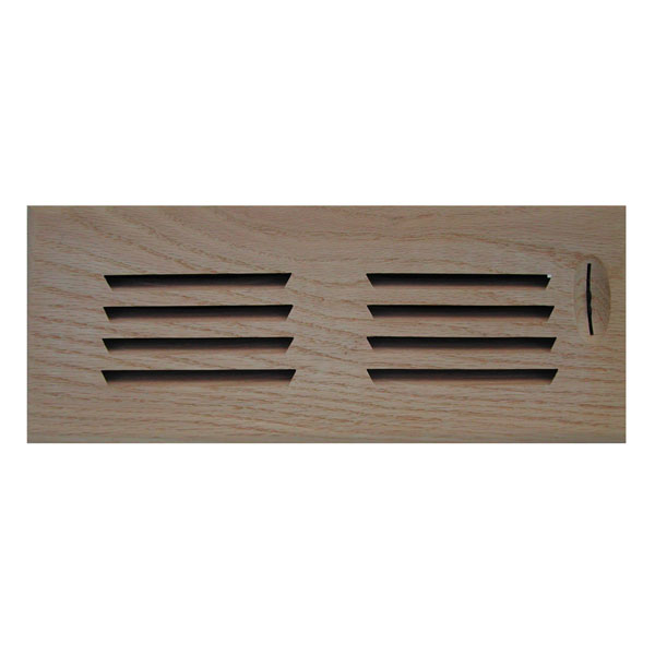 Horizontal Slot Surface Mount Register w/ Recessed Air Flow Control