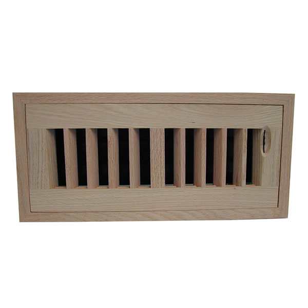 Max Flow Flush Mount Grooved Frame Register w/ Recessed Air Flow Control