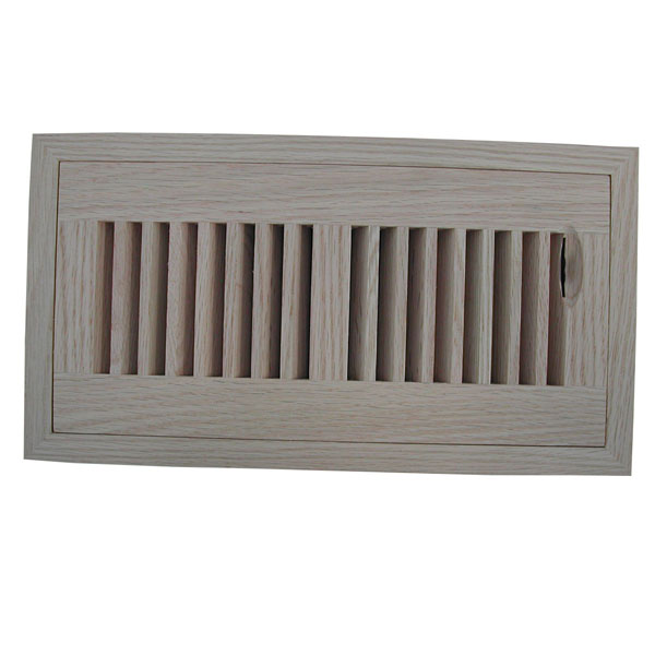 Vertical Slot Flush Mount Register w/ Recessed Air Flow Control