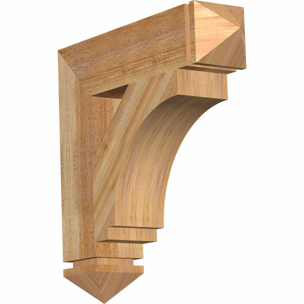 Imperial Arts & Crafts Style Rustic Timber Wood Bracket