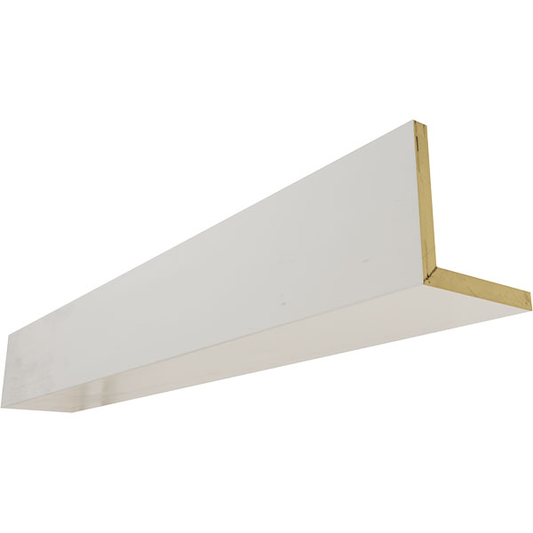 2-Sided (L-beam) Smooth Endurathane Faux Wood Ceiling Beam