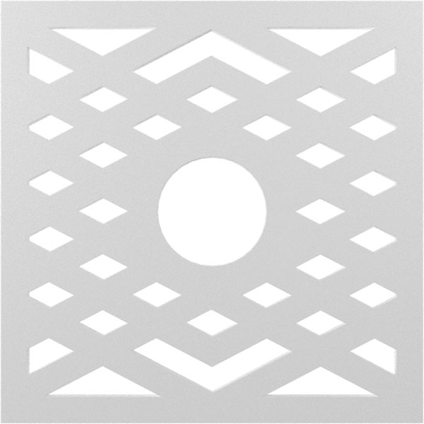Chevron Architectural Grade PVC Pierced Ceiling Medallion