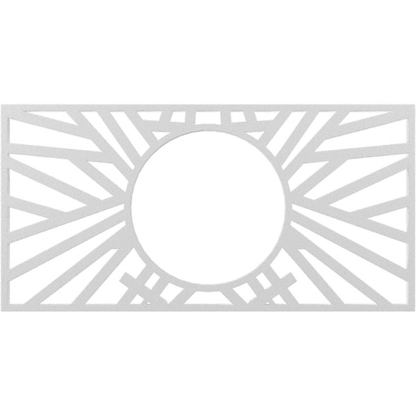 Hoover Architectural Grade PVC Pierced Ceiling Medallion