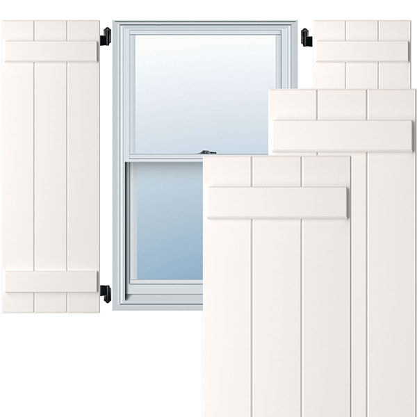 True Fit PVC Board-n-Batten Shutters (Per Pair)