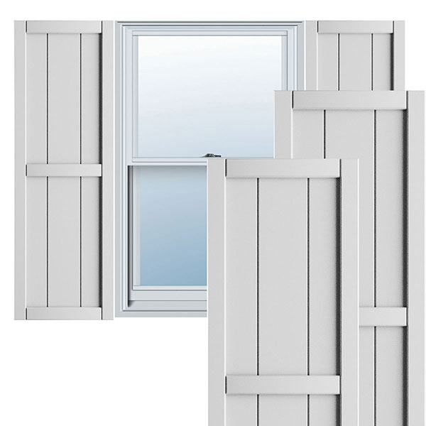 True Fit PVC Framed Board-n-Batten Shutters (Per Pair)