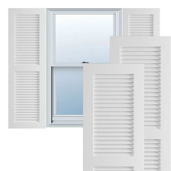 True Fit PVC Louver Shutters (Per Pair)