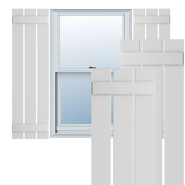 True Fit PVC Spaced Board-n-Batten Shutters (Per Pair)