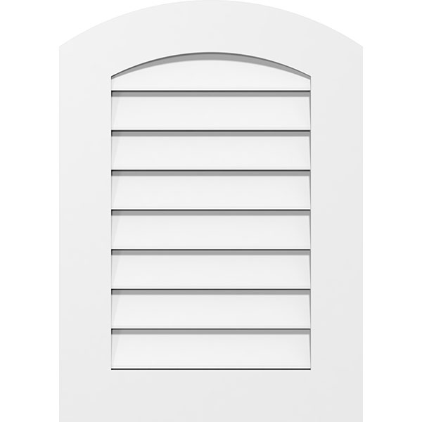 Arch Top Surface Mount PVC Gable Vent Standard Frame