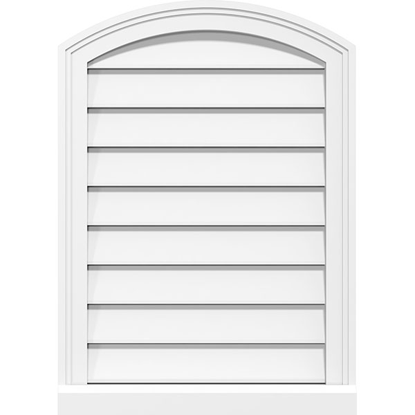 Arch Top Surface Mount PVC Gable Vent Brickmould Sill Frame