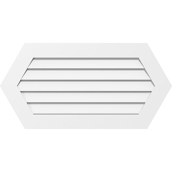 Horizontal Peaked Surface Mount PVC Gable Vent Functional Standard Frame