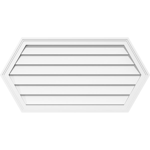 Horizontal Peaked Surface Mount PVC Gable Vent Functional Brickmould Frame