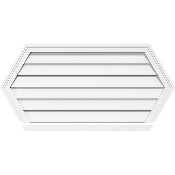 Horizontal Peaked Surface Mount PVC Gable Vent Functional Brickmould Sill Frame