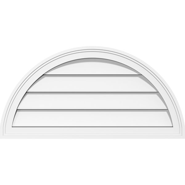 Half Round Surface Mount PVC Gable Vent Brickmould Frame
