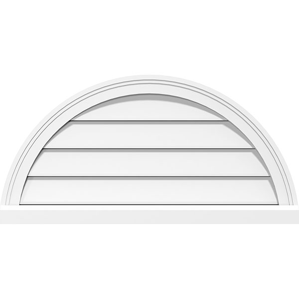 Half Round Surface Mount PVC Gable Vent Brickmould Sill Frame
