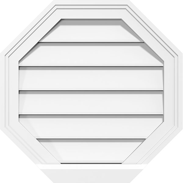 Octagonal Surface Mount PVC Gable Vent Brickmould Sill Frame
