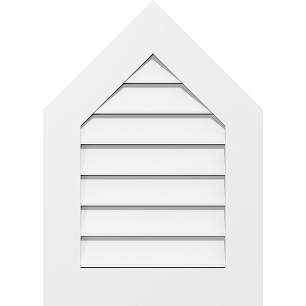 Peaked Top Surface Mount PVC Gable Vent Standard Frame