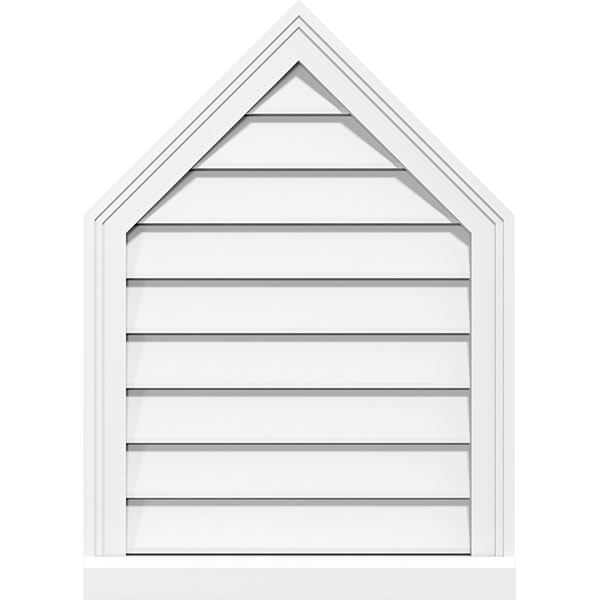 Peaked Top Surface Mount PVC Gable Vent Brickmould Sill Frame
