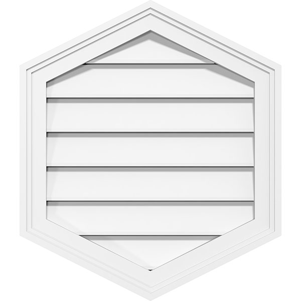 Vertical Peaked Surface Mount PVC Gable Vent Brickmould Frame
