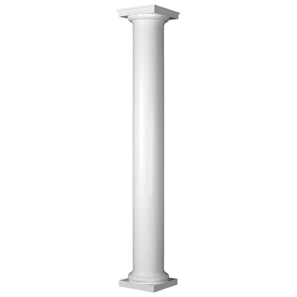 Pacific columns inc esanpsatutu endura stone column round for 10 foot porch columns