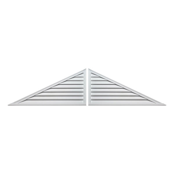 Fypon ltd trlvlr two piece triangle louver decorative for Fypon gable vents
