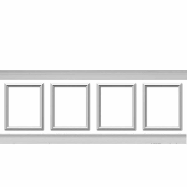 wpk20x24as-01 Wainscot Paneling Trim