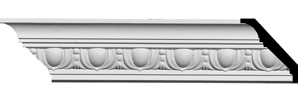 "2 1/8""H x 2 1/8""P x 3""F x 94 5/8""L Egg & Dart Crown Moulding"