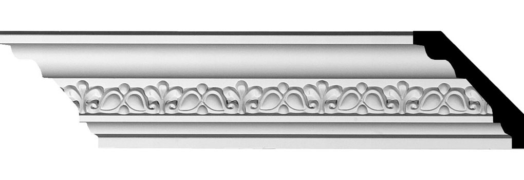 "2 3/4""H x 3 1/8""P x 4 1/4""F x 94 1/2""L Nexus Crown Moulding"
