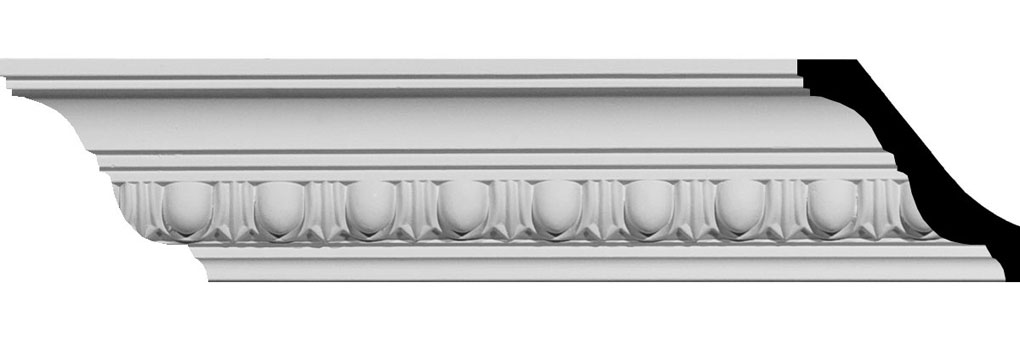 "2 3/4""H x 3 1/8""P x 4 1/4""F x 94 1/2""L Egg & Dart Crown Moulding"