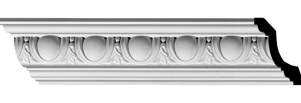 "2 1/4""H x 2 1/2""P x 4""F x 94 5/8""L Egg & Dart Crown Moulding"