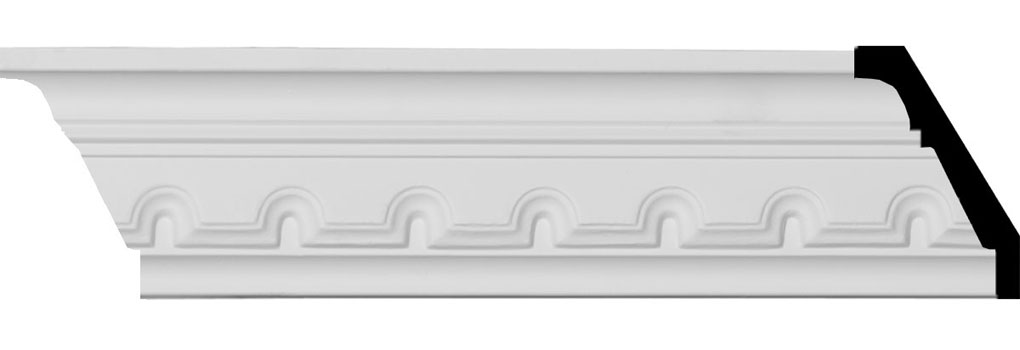 "2 7/8""H x 1 1/2""P x 3 1/4""F x 94 5/8""L Dentil Crown Moulding"