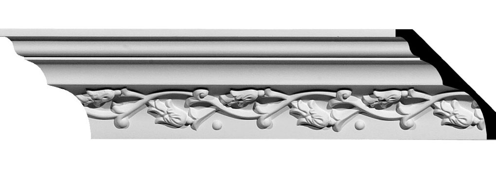 "3 1/2""H x 3 1/8""P x 4 5/8""F x 94 1/2""L Viceroy Crown Moulding"